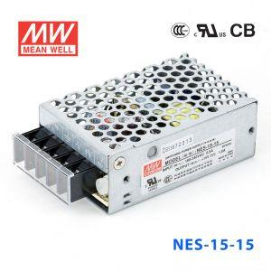 NES-15-15 15W 15V 1A 单路输出CCC认证明纬开关电源(NE系列)