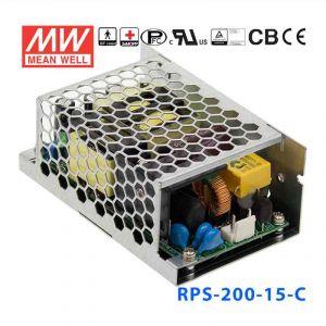 RPS-200-15-C   200W 15V 9.4A   单路输出微漏电低空载损耗医用有外壳明纬开关电源