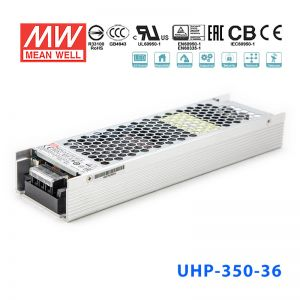 UHP-350-36 350W 36V 9.75A 明�PFC高性能超薄�源