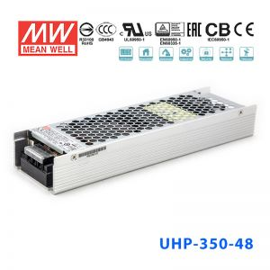 UHP-350-48 350W 48V 7.3A 明�PFC高性能超薄�源